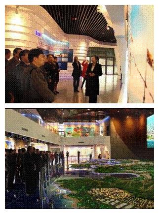 青岛大学总裁班走进西海岸规划展览馆